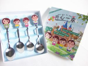 Happy Family Stainless Steel Spoon Set with Gift Box Packing pictures & photos