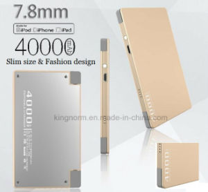 Built-in Cable Design Slim Size 4000mAh Power Bank pictures & photos