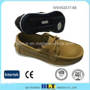 Blt Fashion Design Soft Leather Comfortable China Flat Women Shoes pictures & photos