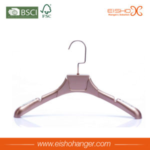 Eisho Luxury Garment Usage Gold Color Plastic Hangers pictures & photos