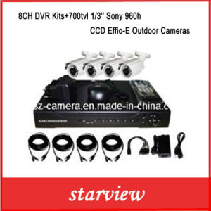 8CH DVR Kits+700tvl 1/3′′ Sony 960h CCD Effio-E Outdoor Cameras pictures & photos