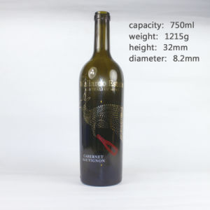 Wholesale Stock Australia Style Empty Red Wine Glass Bottles pictures & photos