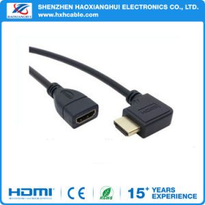 1080P 3D Right Angle Male to Female HDMI Extension Cable pictures & photos