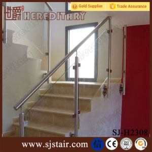 Exterior 304 Stainless Steel Balcony Glass Railing/ Inox Balcony Fence Glass Balustrade pictures & photos