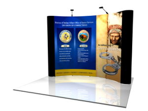 Retractable Backdrop Pop up Wall Printing Fabric Display System pictures & photos