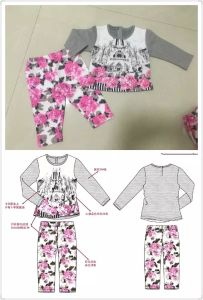 Baby Pajamas in Children Sport Wear Clothes Sq-17108 pictures & photos