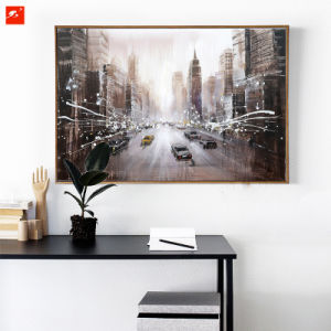 Busy Downtown Street Wall Art New York Street Oil Painting pictures & photos