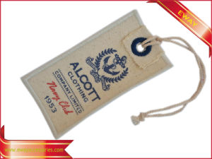 Quality Canvas Printed Hang Tag Garment Jeans Cotton Tag pictures & photos
