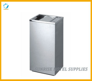 High Quality Stainless Steel Garbage Bin with Top Ashtray pictures & photos
