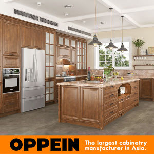 Oppein Rural Red Oak Wood Grain Kitchen Cabinet (OP16-S04) pictures & photos