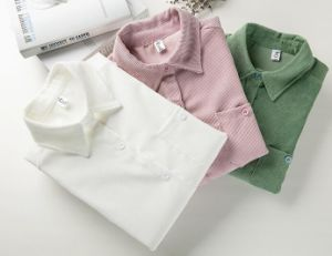 Three Color Women`S Cotton Shirt