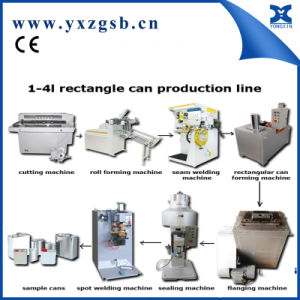 1-4L Semi-Automatic Chemical Rectangular and Square Tin Can Production Line pictures & photos