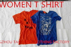 Good Quality in Bales Ladies Short Sleeve T Shirt Used Clothing From China pictures & photos