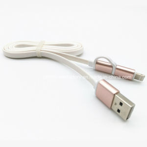 Nylon Braided 5V 2A 8 Pins Lightning and Micro USB Cable pictures & photos