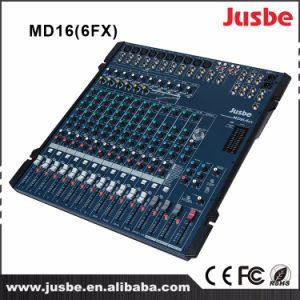 Mg16/6fx Four Groups 16 Channel PRO Stage Light Sound System Mixer/Mixing Console pictures & photos