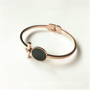Hot Ladies Jewelry Fashion Personalized Stainless Steel Open Bangle Bracelet pictures & photos
