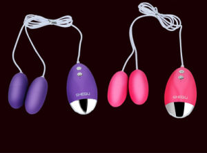 Double Eggs Masturbation Vibration Adult Toy for Ladies pictures & photos