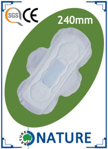 Breathable Perforated film Sanitary Napkins with Single Wings pictures & photos