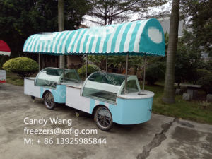 Italian Ice Cream Gelato Push Carts Kiosk with Wheels for Sale pictures & photos
