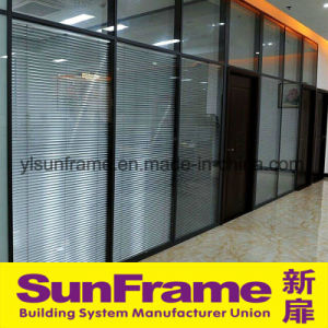 High Class Office Partition Wall System with Blinds Inside pictures & photos