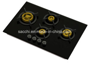 Supreme Unique 4 Brass Burner Gas Hob (8mm Glass) pictures & photos