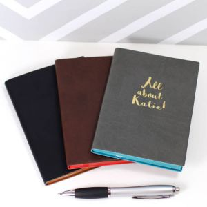 Personalised PU Leather Notebook pictures & photos