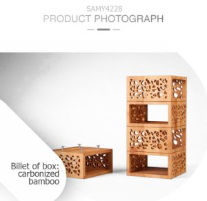 Eco-Friendly Retro Design Beautiful Bamboo Wooden Wine Gift Box pictures & photos