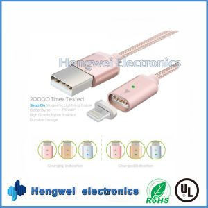 Magnetic Braided Lightning Charging Charger USB Cable for Apple iPhone Samsung pictures & photos