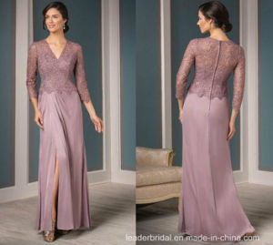 Lace Mother Prom Dresses Purple Formal Evening Dresses M71025 pictures & photos
