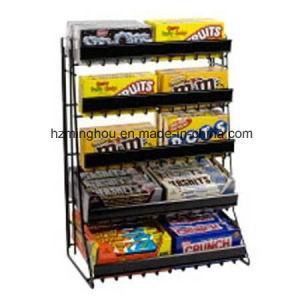 Retail Store Potato Chip Snack Storage Metal Display Rack pictures & photos