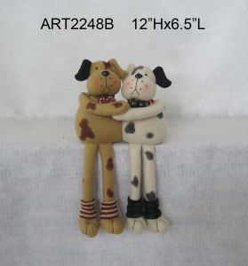 Christmas Decoration Home Decoartion Plush Dog-2asst pictures & photos