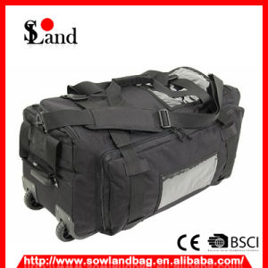 Black Wheeled Duffel Luggage Bag pictures & photos