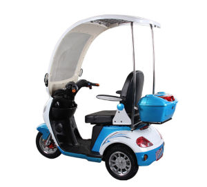 500W Adult Electric Motorcycle, 3 Wheels Electric Disabled Scooter Trike with Rain Cover pictures & photos
