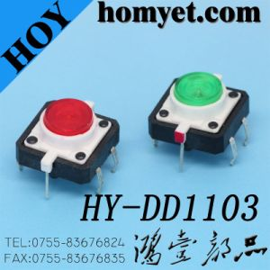 12*12mm Through Hole Illuminated Tactile Swith LED Tact Switch pictures & photos