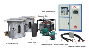 Copper Steel Aluminum Melting Furnace Induction Heating Machine pictures & photos