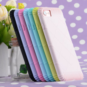 Gird Pattern Solid Candy Sugar Color Shockproof Phone Case for iPhone7/7plus pictures & photos