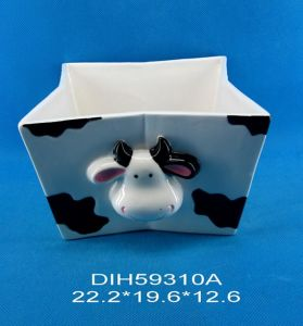Cow-Shaped Ceramic Candy Holder pictures & photos