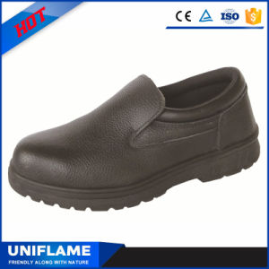 Leather No Lace Steel Toe Safety Work Shoes Ufa047 pictures & photos