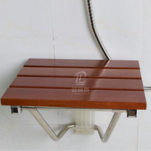 Solid Wooden Foldable Bathroom Shower Seat Commode Chair