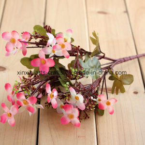 Cheap Artificial Cordate Telosma Flower Bouquet with 24 Flower Heads pictures & photos