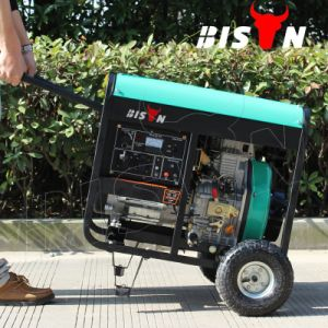 Bison (China) OEM Factory 5000W 5kw 5kVA Copper Wire Portable Dg5500 E Diesel Generator From China Manufacturer pictures & photos