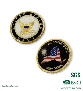 Rope Edge Stamping Hard Enamel American Challenge Collective Coins (HST-SCS-120) pictures & photos