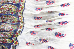 Custom Silk Printed Scarf with Floral Embroidery pictures & photos
