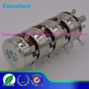 2W Wth118-4 Round Shaft Carbon Rotary Taper Potentiometer pictures & photos