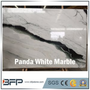 High End Panda White Marble Slab for Hall Floor Tile pictures & photos