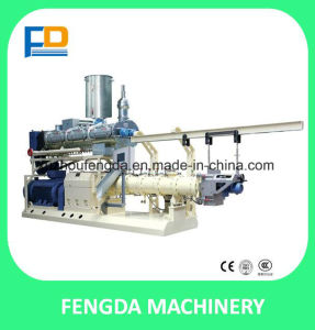 Twin Screw Wet Steam Feed Extruder for Aquatic Animal Feed pictures & photos