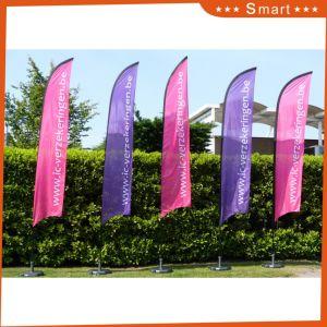 High Quality Custom Design Feather Flags, Telescopic Beach Flag pictures & photos