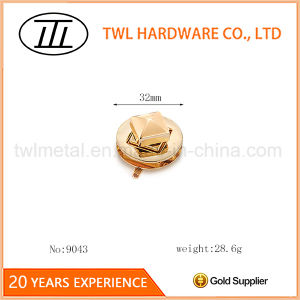 Rose Gold Tai-Chi Round Pie Shaped Hardware Turn Lock for Bags pictures & photos