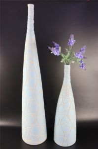 Fresh Light Blue Pattern Creative Ceramic Ornaments Vase pictures & photos
