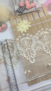 New Design 18cm Width Factory Stock Net Embroidery Trimming Mesh Lace for Garments Accessories & Home Textiles & Fabrics pictures & photos
